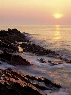 Sunrise from Marginal Way, Maine, USA