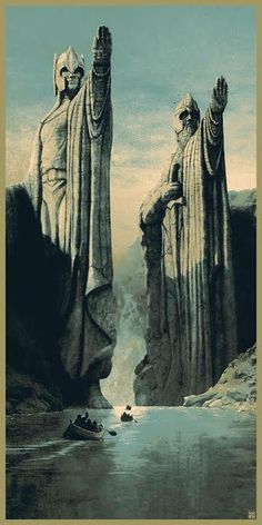 """The Argonath, long have I desired to look upon the kings of old."" By Matt Ferguson"