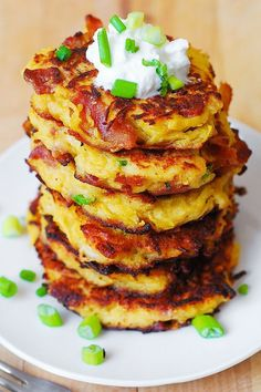 Bacon, Spaghetti Squash and Parmesan Fritters, Julia's Album