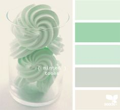 Mint; it is so cheery and still calming.   Love these minted tones!
