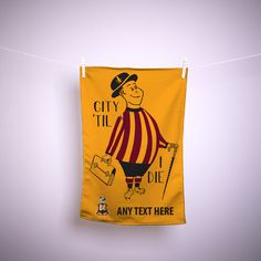 Bradford City FC Official Personalised The City Gent Kitchen Tea Towel 5056230891715 Cotton Towels, Tea Towels, Bradford City, West Yorkshire, Finding Yourself, Reusable Tote Bags, Lighter, Ebay, Water