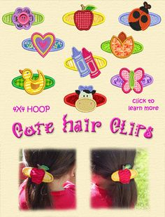 Cute hair clips for girls. See more at www.smartneedle.com.