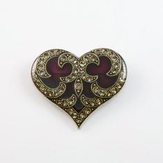 Catherine Popesco Heart Enamel Brooch