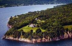 The stunning location of Beinn Bhreagh, the home Alexander Graham Bell build in 1889 on a point overlooking Bras d'Or Lake across from Braddeck, Nova Scotia on Cape Breton Island. Image result for Alexander Graham Bell Historical Site Canada images.