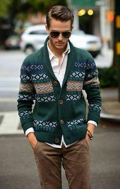 thick cardigan