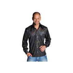 Zwart overhemd volledig bedekt met glitterende pailletten. Deze zwarte disco overhemd is van zeer goede kwaliteit. Disco overhemd zwart is een echte topper onder disco overhemden. Dit Glamour en Glitter overhemd is verkrijgbaar in diverse maten.