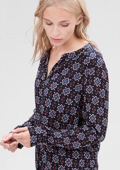 Luftige Bluse mit Allover-Print von s.Oliver. Entdecken Sie jetzt topaktuelle…