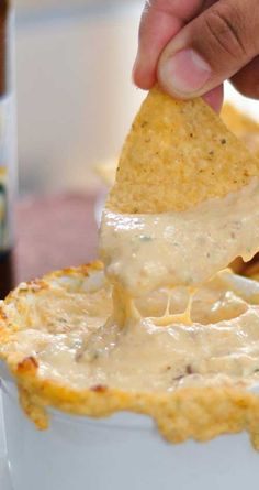 Recipe for Warm Cheese & Beer Dip - This is one of those creamy, gooey dips that you casually taste, and then find yourself scarfing down half the bowl before you fully come to your senses!