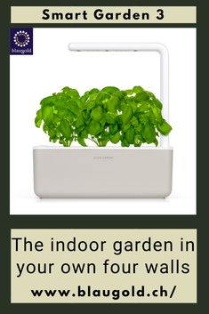 Color=Beige    Description  Do you like to cook with fresh herbs but are not blessed with a green thumb? Or do you simply lack the time to give the plants the necessary care? Then the Smart Garden 3 from Click and Grow might be a good fit for you, because  it takes care of your plants almost independently! It's easy: Place the capsules in the Smart Garden Connect Smart Garden to electricity Give water once every 2-3 weeks and harvest. #flowers #plants #gardens #nature