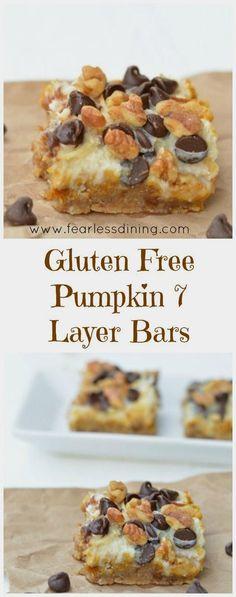 Gluten Free Pumpkin 7 Layer Bars are a delicious easy…