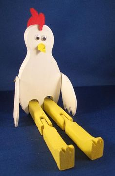 Limberjack Dancing Chicken by prairiewindtoys on Etsy, $34.95