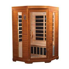 Triton 2 Person Corner Low Emf Far Infrared Sauna