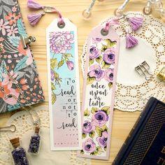 La Luna handmade: Цветочные закладки   Flower bookmarks