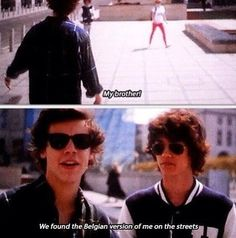 Oh my gosh when they showed this in the movie I cracked up.. Harry stop being adorable<3
