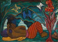 Diego Rivera Rio Juchtan four panels, 153 x 209 cm