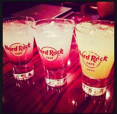 Straight from the Bar … #Cheers y'all!  #ThisIsHardRock #Rome #Cocktails #Drinks