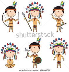 Native American People Stockillustraties & cartoons | Shutterstock