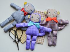 Textile monkeys . Текстильные обезьянки ручной работы ( handmade)