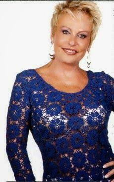 Ateliana  Artesanatos: Blusa de crochê da Ana Maria Braga