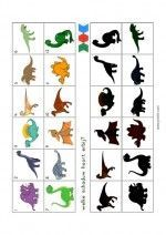 Mini Loco Dinosauriërs – plaatje-schaduw Dinosaur Worksheets, Dinosaur Activities, Activities For Kids, Dinosaurs Preschool, Preschool Science, Dino Museum, Maternelle Grande Section, Bingo For Kids, Dinosaur Pictures