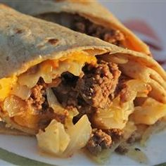 Runza Burritos International -- Family Favorite -- Add sour cream, your favorite salsa, and some cheddar cheese to the tortilla, wrap it all up and you got yourself an A+ burrito!