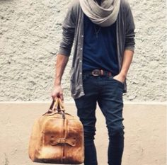 Love the scarf and cardigan