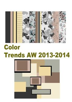 Color Trends 2013 - 2014 and applied to design examples