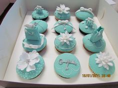 Tifanny & Co Cupcakes - My first Tiffany cupcakes