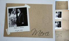Cartes de remerciements: polaroids et kraft   Paper Papel Papier (fr)