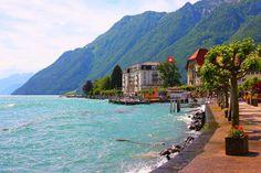 Brunnen - Lake Lucerne, Switzerland Hier was ik! Een week doorgebracht in Het Witte Hotel!