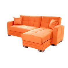 Kubo Rainbow Orange Sectional Sofa by Sunset