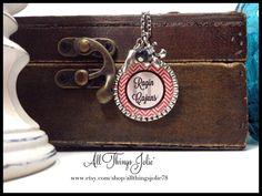 UL Ragin Cajuns Necklace Louisiana Love Fleur by AllThingsJolie78 on Etsy