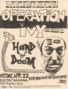 <b>D.I.Y. typography and design at its finest, featuring Dead Kennedys, Fugazi, Minor Threat, Bad Brains, and The Cramps.</b>