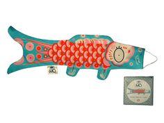Koinobori pez azul, ecológico - 25,90€