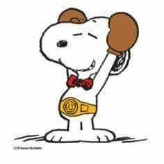Snoopy the boxer & champion!