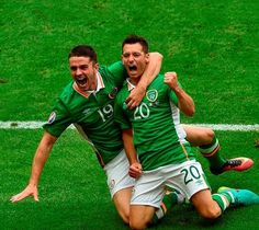 Robbie Brady, pictured with Wes Hoolahan (right), proved himself for Ireland in Euro Photo: Sportsfile Jack Charlton, International Soccer, World Cup Qualifiers, Football Stuff, Soccer Games, Republic Of Ireland, Euro, Irish, Ireland
