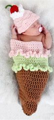 """""""Cherry on Top"""" hand made crochet outfit"""