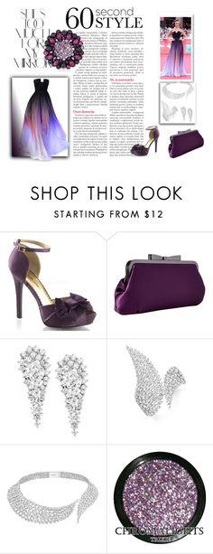 """The Ombre Look"" by colonae ❤ liked on Polyvore featuring Rika, Fabulicious, Elie Saab, Jessica McClintock, Wrapped In Love, Messika, ombre and 60secondstyle"