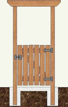 Wooden Gate Construction Plans - Could build this for the entrance to the garden...