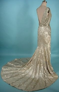 Vintage Couture Gown - Silver