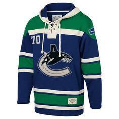 Old Time Hockey Vancouver Canucks Lace Up Jersey Hoodie NHL Sweatshirt df3610434