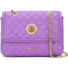 Love Moschino quilted shoulder bag ($139) ❤ liked on Polyvore featuring bags, handbags, shoulder bags, purple, love moschino purse, purple shoulder bag, pu handbag, love moschino handbags and quilted purses