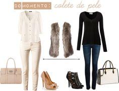 """Do momento: Colete de pele"" by gabrielalendecker on Polyvore"