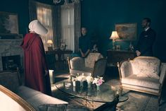 Located on Bay Street and Aberdeen Avenue in Hamilton, Ontario, The Waterford's House from The Handmaid's Tale is a real property, here's a look inside: The Handmaid's Tale Book, A Handmaids Tale, Fox Home, Luxury Vinyl Plank, Dark Interiors, Interior Design Inspiration, Line Art, Scene, Living Room