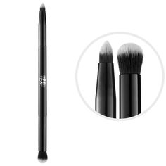 Shop Kat Von D's Shade + Light Eye Contour Brush at Sephora. This eye shadow brush is designed with a tapered end for defining and a domed end for blending.