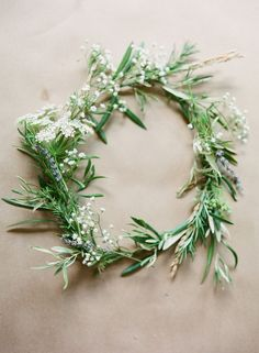Wedding Hair With Flowers & jewels  :    I love this wreath as it is not just leaves but is still all green.  - #WeddingHairStyle https://youfashion.net/wedding/wedding-hair-style/wedding-hair-with-flowers-jewels-i-love-this-wreath-as-it-is-not-just-leaves-but-is-still-all-green/