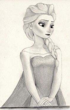 Frozen- Elsa drawing