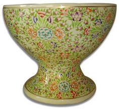 Hand Painted Fruit Bowl from India