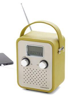 Trail Remix Radio - Green, Vintage Inspired, Mod, Music