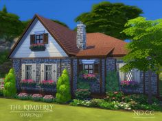 The Kimberly is a family home built on a 20 x 20 lot. Found in TSR Category 'Sims 4 Residential Lots'